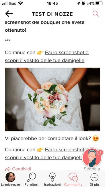 Fai lo screenshot e scopri il tuo bouquet 5