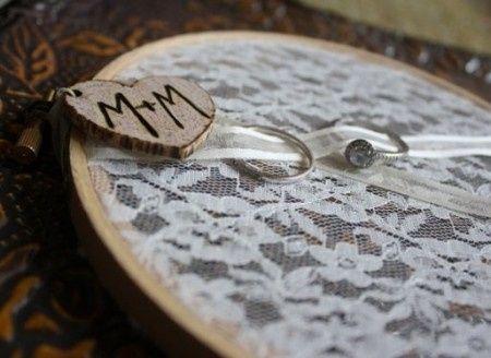 shabby chic ring bearer
