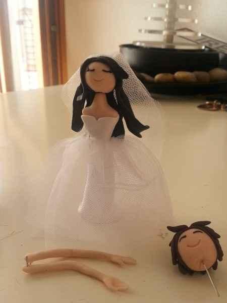 seconda prova cake topper sposina e sposo work in progress
