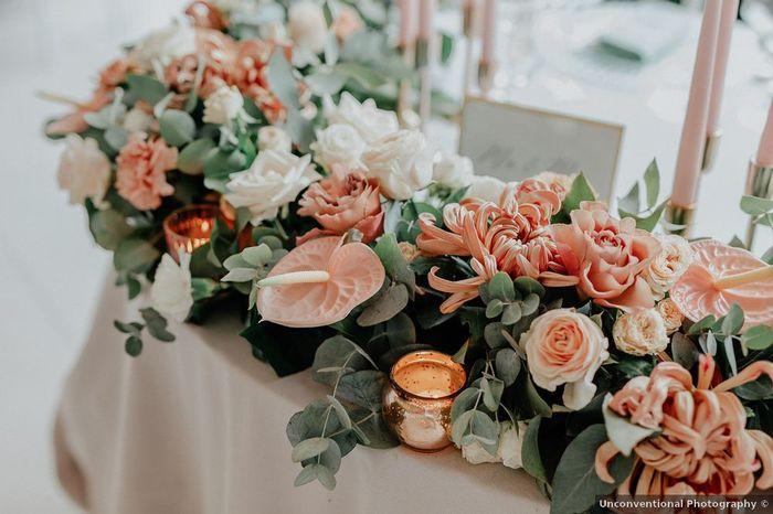 Quali decorazioni preferisci per il tavolo sposi? 3