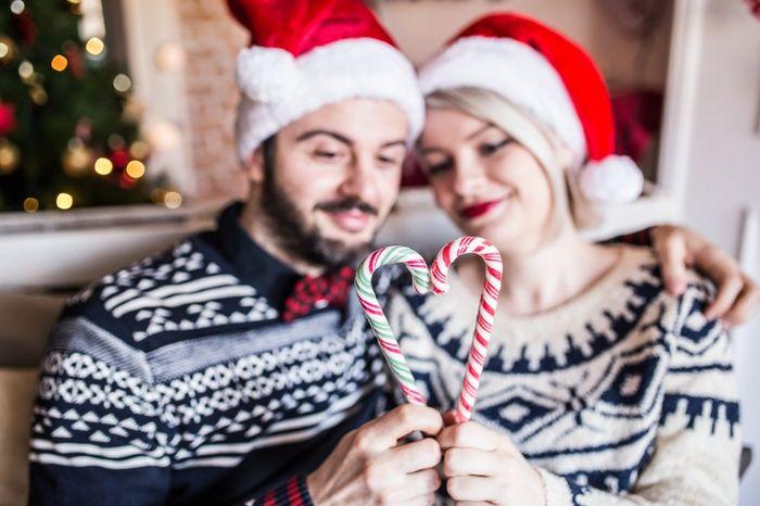 Indosserete maglioni di coppia natalizi? 1
