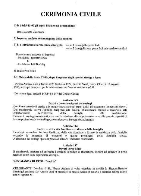 Libretto Matrimonio Simbolico : Rito civile neo spose forum matrimonio