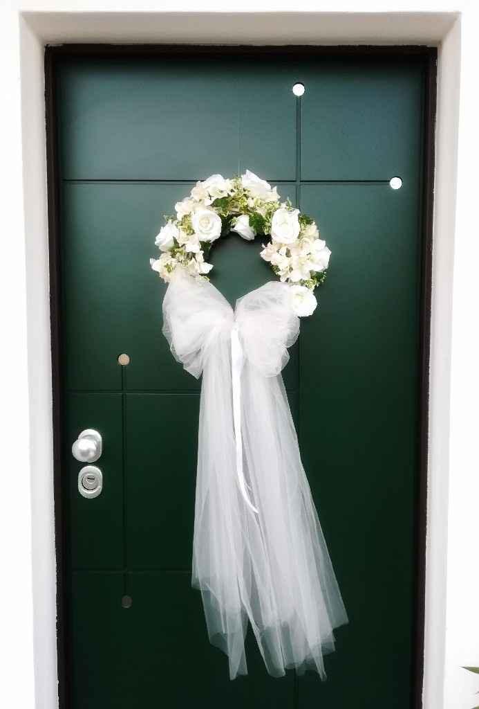 Ghirlanda di fiori sulla porta d'ingresso 🌹 - 1