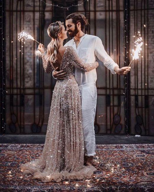Gli abiti da sposa più scintillanti!✨ 3