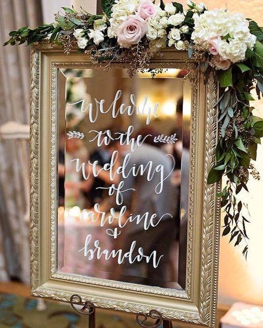 Tableau de mariage con specchio organizzazione - Scrittura a specchio ...