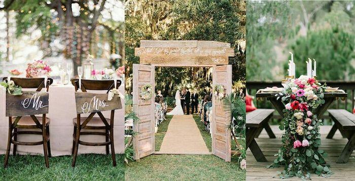 Porta in legno per matrimonio all 39 aperto cerimonia for Piani di casa all aperto