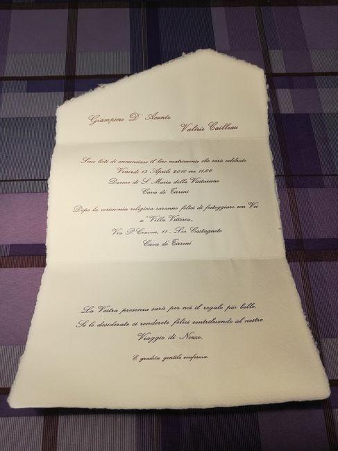 Partecipazioni Matrimonio Carta Amalfi.Finalmente Partecipazioni Pronte Fai Da Te Forum Matrimonio Com