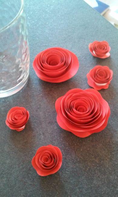 Rose Fai Da Te rose di carta per decorare i tavoli - fai da te - forum
