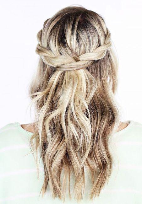 Molto Aiutatemi please acconciatura capelli lunghi e mossi - Moda nozze  HE16