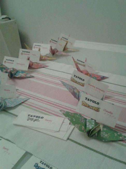 le mie escort card origami fai da te forum