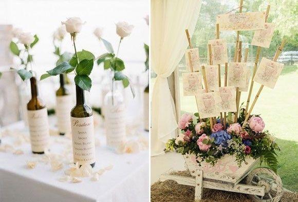Matrimonio Tema Natura Nomi Tavoli : Tableau a tema quot fiori in stile shabby organizzazione