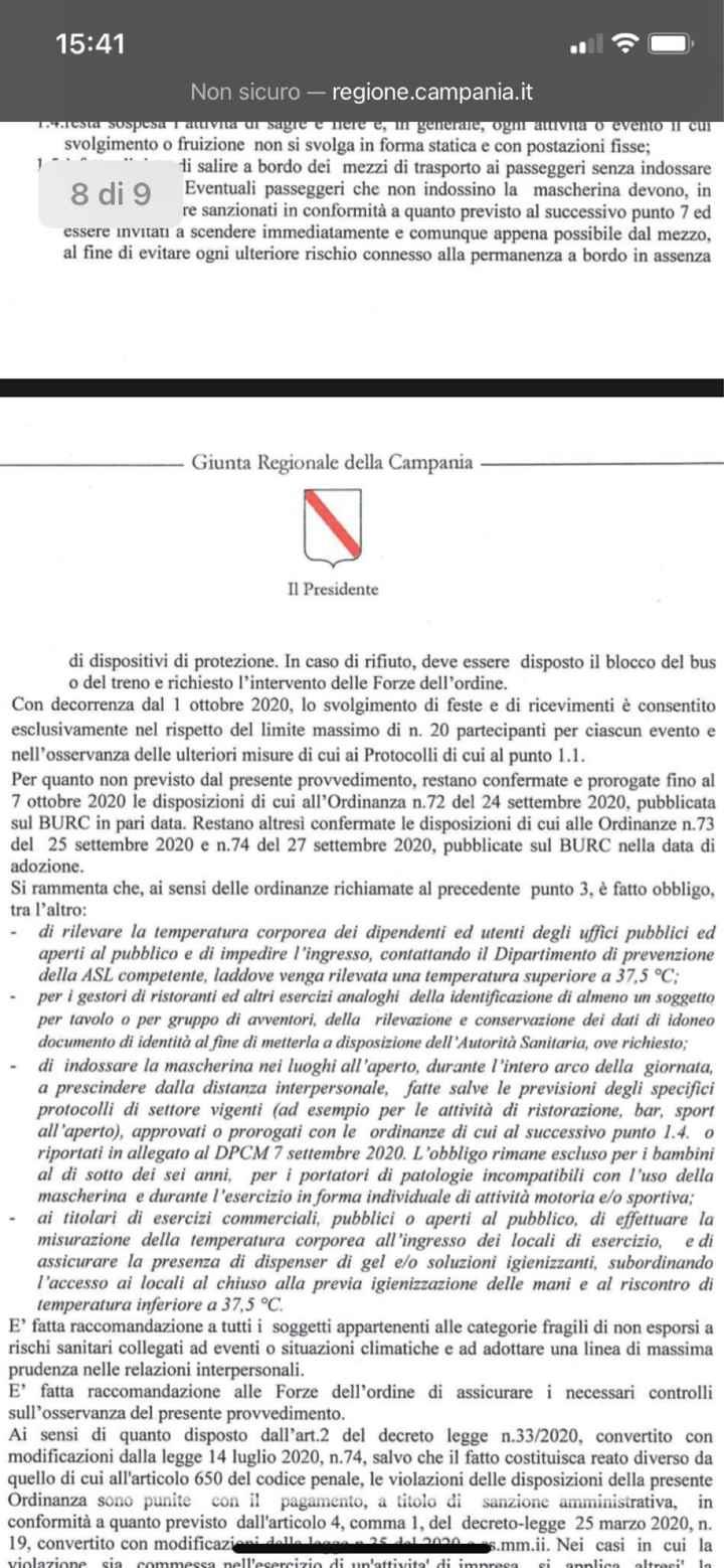 Ordinanza di De Luca - 1