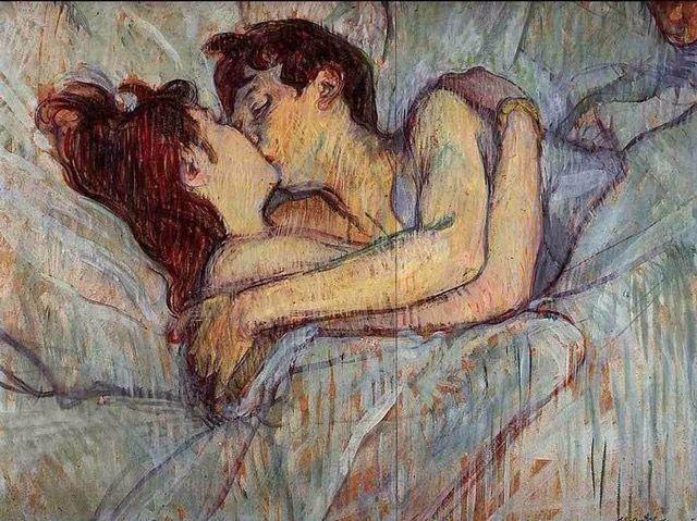 A letto, il bacio – Henri de Toulouse-Lautrec
