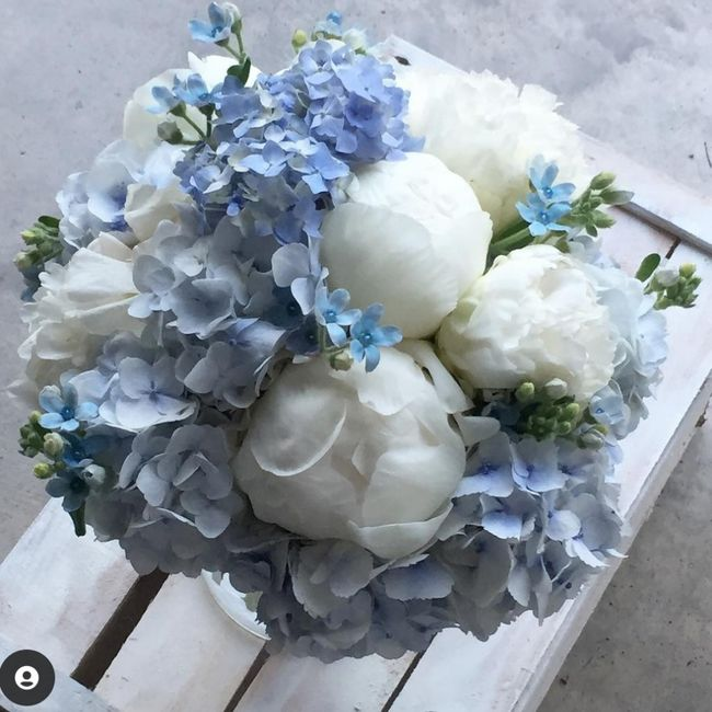 Bouquet colore celeste/azzurro carta da zucchero❤ - 1