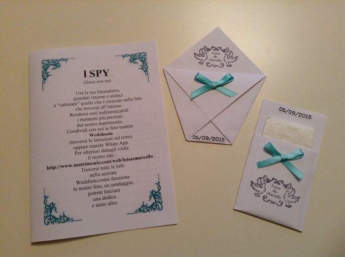 spesso I spy + porta riso + porta fazzoletti - Organizzazione matrimonio  QL38