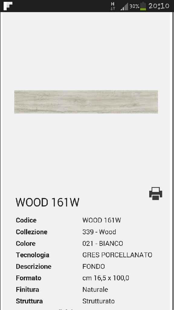 Gres effetto legno color white - 1