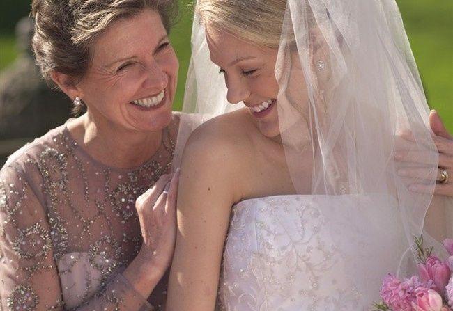 Sposa con la mamma