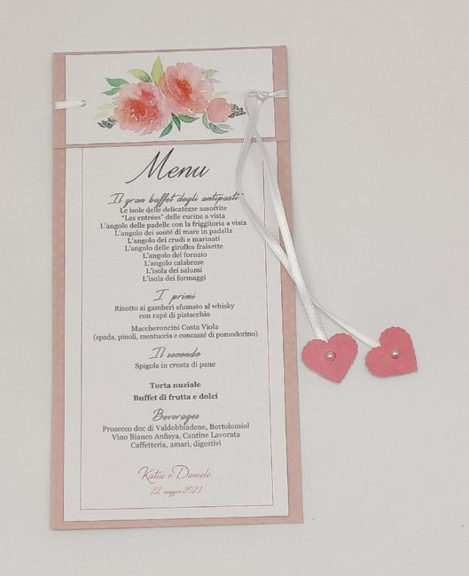 Un esempio di menu romantico - 1