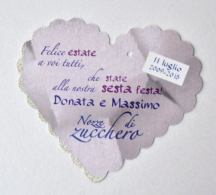 Frasi Matrimonio 2015.6 Anni Nozze Di Zucchero Fai Da Te Forum Matrimonio Com