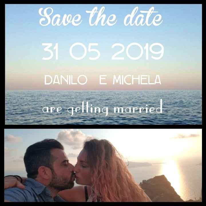 Mi mostrate i vostri save the Date? - 1
