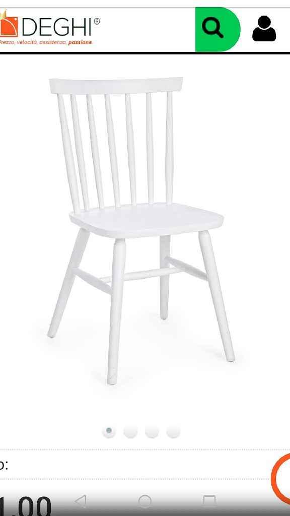 Consiglio abbinamento sedie - 1