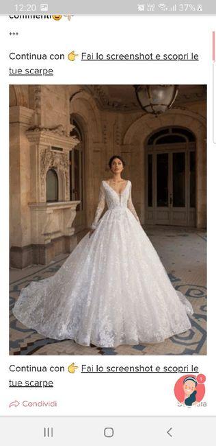Fai lo screenshot e scopri il tuo abito da sposa 31