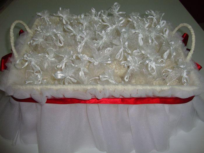 Cestino sacchetti porta riso foto fai da te - Cesti porta bomboniere matrimonio ...