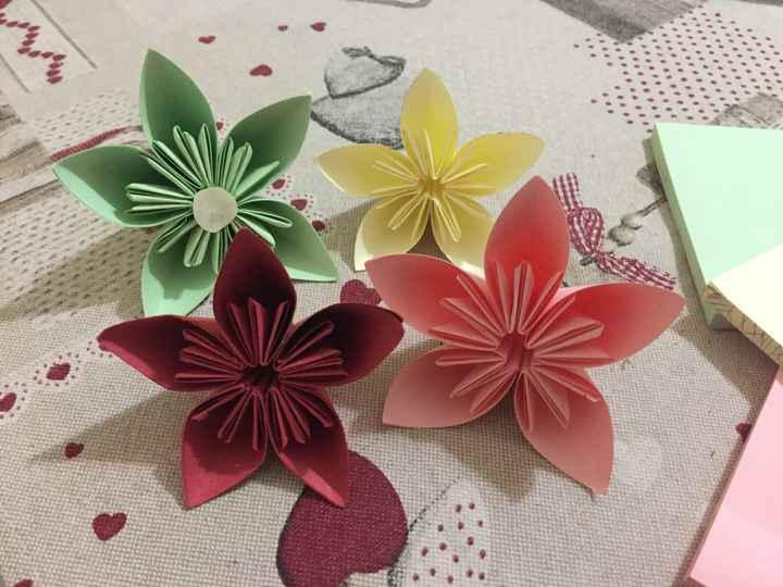 Bouquet sposa origami - 1