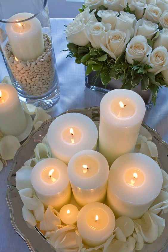 Centrotavola di candele