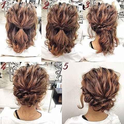 Acconciatura capelli alle spalle