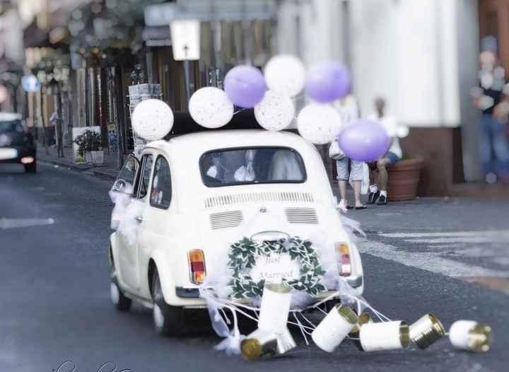 Decorazione auto sposi 👰🏼 🤵🏼 - 5