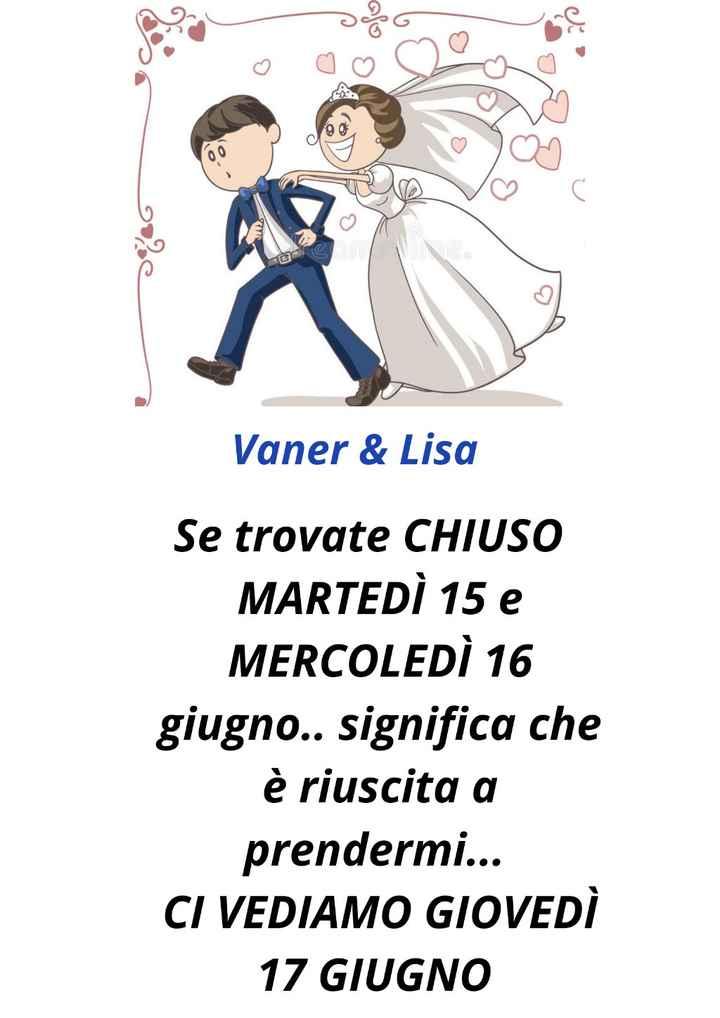 Attività chiusa per matrimonio - 1