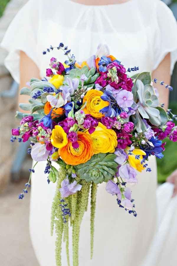 Bouquet con fiori azzurri - 3