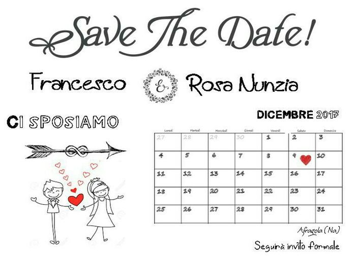 Testo save the date - 1