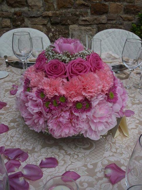 Allestimento floreale settimana rostorante ricevimento di nozze forum - Composizioni floreali per tavoli ...