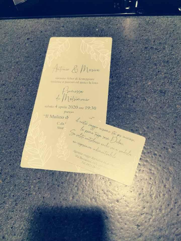 Invito promessa di matrimonio - 1