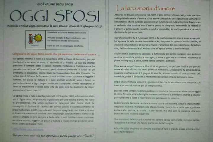 Il mio giornalino degli sposi... - 1