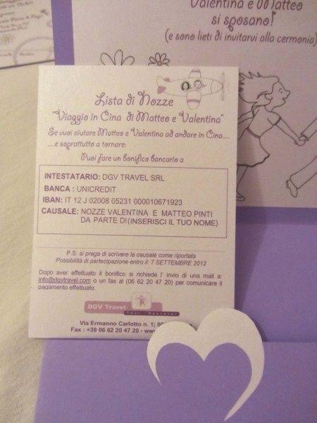 """Amato Come inserire il biglietto """"lista nozze"""" - Prima delle nozze  IJ69"""