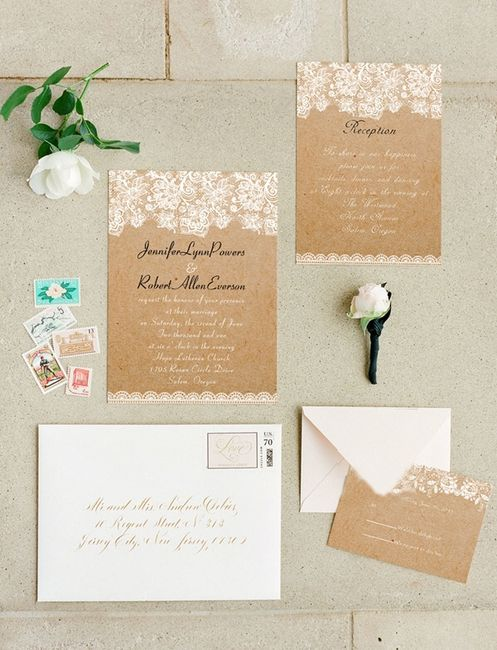 Burlap And Lace Invitations is perfect invitations ideas