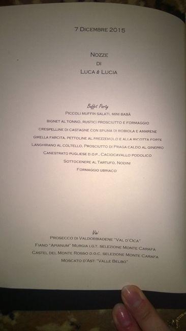 ecco il menu