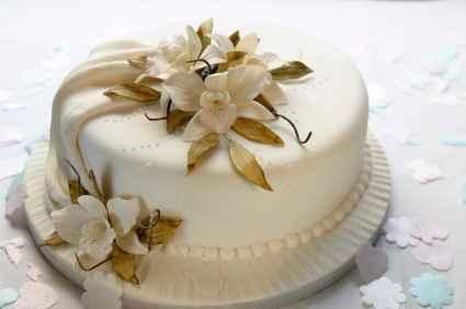 torta oro e bianco