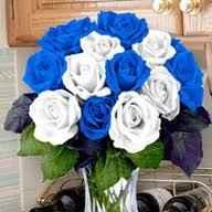 bouque bianco e blu