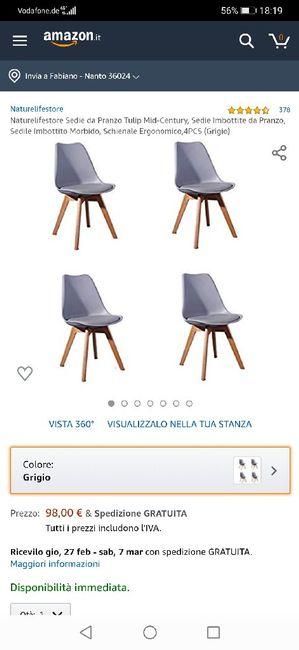 Consiglio abbinamento sedie 6