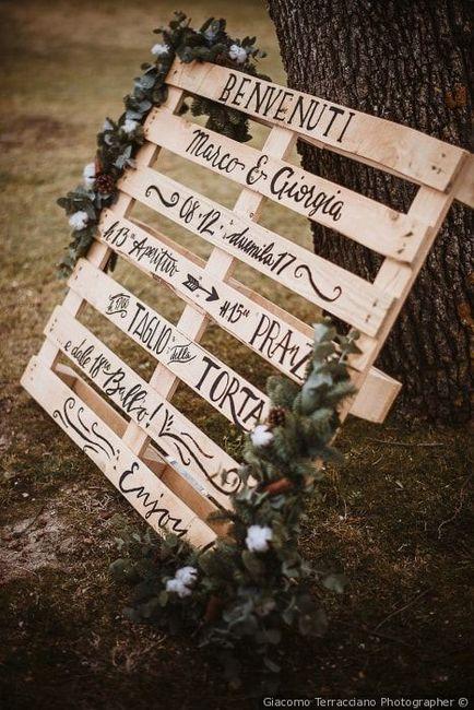 "Cartello ""oggi sposi"" - 1"