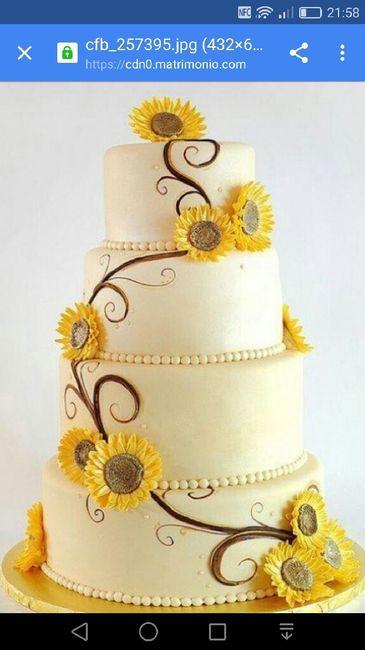 Torte Matrimonio Girasoli : Torta con girasoli organizzazione matrimonio forum matrimonio.com