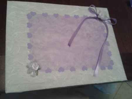 Guestbook lilla tema cuori e fiori - 1