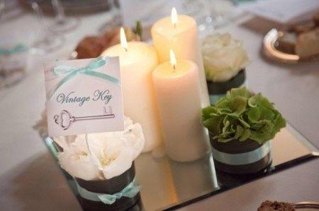Idee per il centrotavola del matrimonio ricevimento di for Centrotavola matrimonio candele