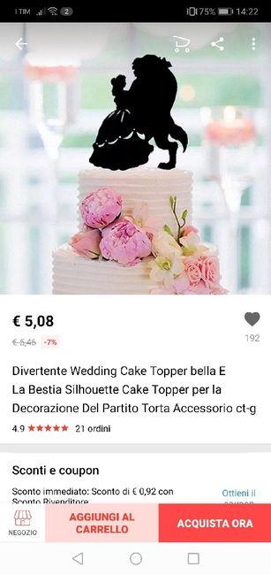 Cake topper la bella e la bestia 7