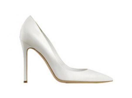 scarpe décolleté bianche