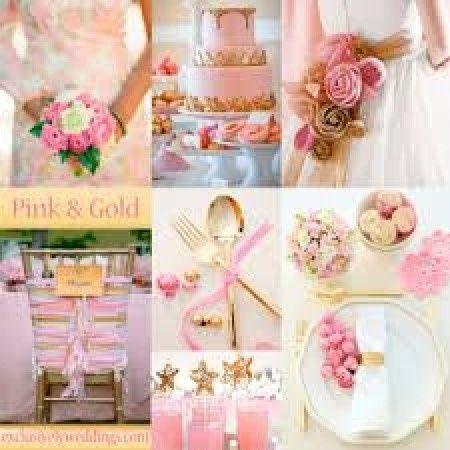 esempio di matrimonio oro e rosa